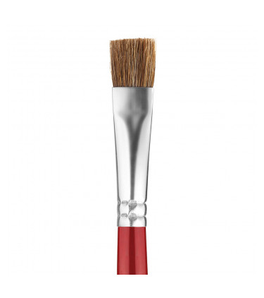 Goat soft bristle, flat tip artistic brush
