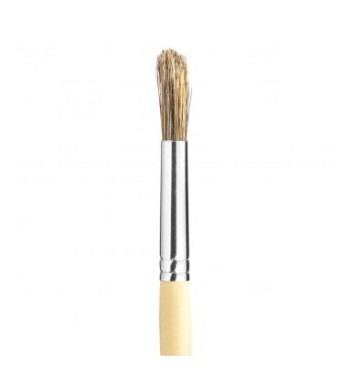 Gray bristle, round tip artistic brush