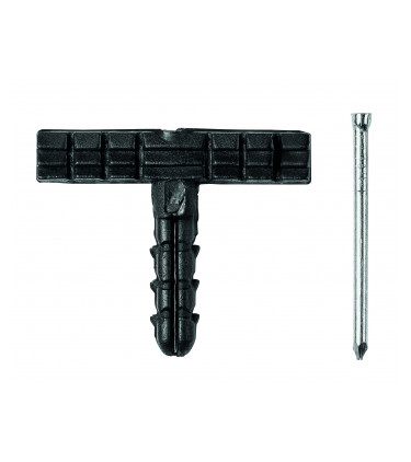 'T'' Shaped screw anchors for skirting boards