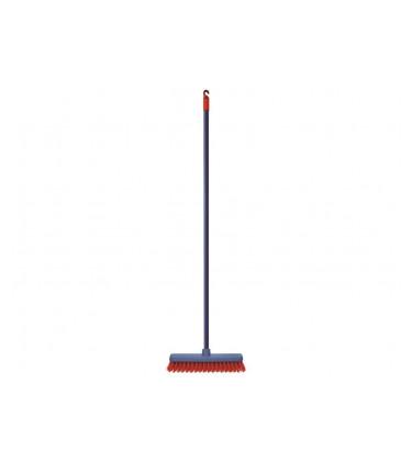 Short rigid bristle broom
