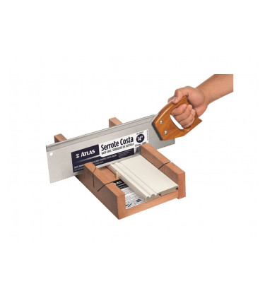 Wooden mitre box